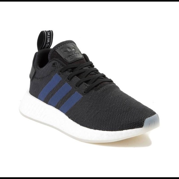 257491eae8599 adidas originals NMD R2 CORE BLACK NOBLE INDIGO